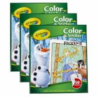 Crayola BIN45864-3 Frozen 2 Crayola Color & Sticker - 3 Each