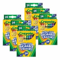 Crayola BIN526924-6 Ultra-Clean Washable Crayons, Regular Size - 24 Count - 6 per Pack - 1