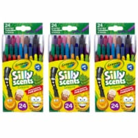 Silly Scents Mini Twistables Scented Crayons, 24 Per Pack, 3 Packs - 1