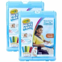 Crayola BIN752580-2 Color Wonder Stow & Go Studio - 2 Each