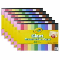 Crayola BIN990055-6 Giant Construction Paper Pad with Stencils - Pack of 6 - 1