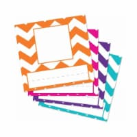 Top Notch Teacher Products TOP2003-6 Picture Plates Chevron, Assorted - 6 per Pack - 1