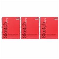 Dixon Ticonderoga PACCAR53007-3 Sketch Diary Medium Weight, 11 x 9 in. - 70 Sheets - 3 Each - 1