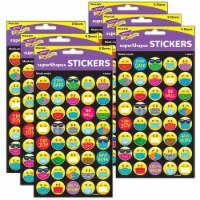 Trend Enterprises T-46361-6 Mask-Mojis Large Stickers for Grade PK Plus, Multi Color - 320 Co