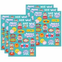 Eureka EU-650935-6 Bubblegum Scented Stickers for Grade PK-12, Multi Color - Pack of 6