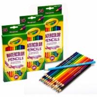 Watercolor Colored Pencils, 24 Per Pack, 3 Packs - 1