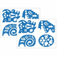 Roylco R-58632-2 Unruly Rulers Stencils, Blue - Pack of 2