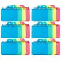 Spiral Bound Index Card Notebook with Index Tabs, Assorted Tropic Tones Colors, Pack of 6 - 1