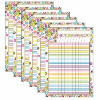 Smart Poly® Chart, DonutFetti® Incentive Chart, 13  x 19 , Pack of 6 - 1