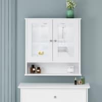 Samantha Modern 2 Door Medicine Cabinet with Mirrors