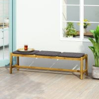 Erick Outdoor 3 Seater Wicker Bench - 1 unit