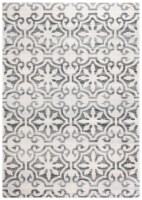 Martha Stewart Collection Isabella Accent Rug - Gray/Ivory - 4 x 6 ft