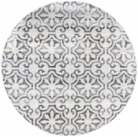 Martha Stewart Collection Isabella Round Rug - Gray/Ivory - 6 ft 7 in