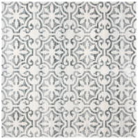 Martha Stewart Collection Isabella Square Rug - Gray/Ivory - 6 ft 7 in