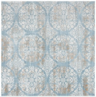 Martha Stewart Isabella Square Rug - Denim Blue/Ivory - 6 ft 7 in