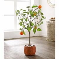 Faux Orange Potted Tree - 1 unit