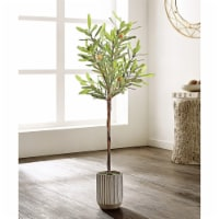 Faux Olive Potted Tree - 1 unit