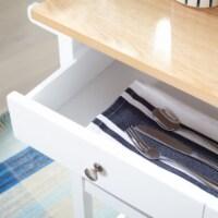 Daley 2 Drawer 3 Shelf Kitchen Cart White - 1 unit