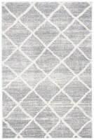 Safavieh Martha Stewart Collection Lucia Shag Accent Rug - White/Light Gray - 30 x 45 in