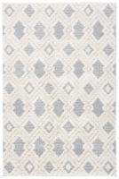 Martha Stewart Collection Lucia Shag Geometric Accent Rug - White/Light Gray - 30 x 45 in