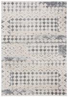 Martha Stewart Collection Lucia Shag Diamond Accent Rug - White/Light Gray - 2.5 x 3.75 ft