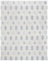 Martha Stewart Collection Lucia Shag Area Rug - White/Light Gray - 8 x 10 ft