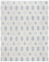 Martha Stewart Collection Lucia Shag Area Rug - White/Light Gray - 9 x 12 ft
