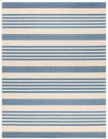 Martha Stewart Beach House Indoor Outdoor Rug - Beige/Blue - 6 x 9 ft