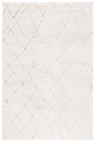 Martha Stewart Collection Lucia Shag Area Rug - White/Light Gray - 6.58 x 9 ft