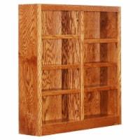 Bowery Hill 48  Tall 8-Shelf Double Wide Wood Bookcase in Dry Oak - 1