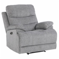 Pemberly Row Power Reclining Chair with Power Headrest and USB Port in Gray - 1