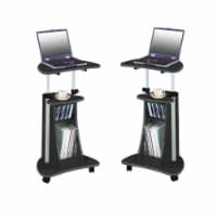 Home Square 2 Piece Cadmus Mobile Laptop Stand Set in Graphite - 1