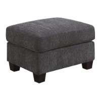 Pemberly Row Ottoman with Fixed Cushion in Midnight Gray - 1