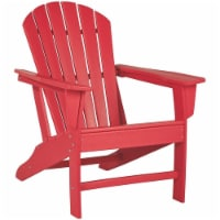 Bowery Hill Adirondack Chair in Red