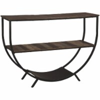 Bowery Hill Accent Console Table in Gray and Brown - 1