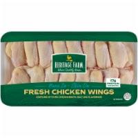 Heritage Farm® Chicken Wings Bone In & Skin On (14-17 per Pack) - $3.29/lb