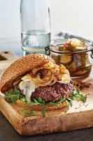 Angus Ground Chuck Cheddar Cheese Pub Burger - 1 RW