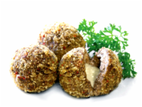 Mozzarella Stuffed Pork & Beef Meatballs