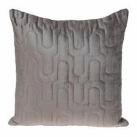 Parkland Collection Basil Transitional Taupe Throw Pillow - 1