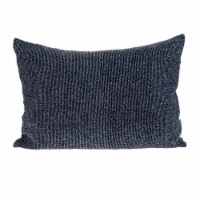 Parkland Collection Aster Transitional Metalic Blue Throw Pillow - 1