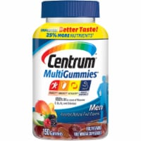 Centrum MultiGummies Assorted Natural Fruit Flavored Men Multivitamin Gummies