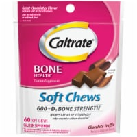 Caltrate Chocolate Truffle Bone Health 600+D3 Soft Chews