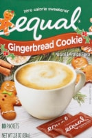 Equal Gingerbread Cookie Zero Calorie Sweetener Packets 80 Count