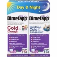 Dimetapp Children's Day & Night Liquid Cold & Cough Suppressant & Decongestant Relief