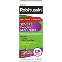 Robitussin Severe Cough + Sore Throat CF Max Medicine