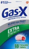 Gas X Extra Strength Antigas Cherry Creme Chewable Tablets
