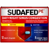 Sudafed PE Day+Night Sinus Congestion 10 mg Tablets