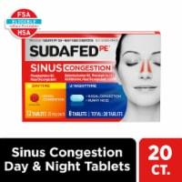 Sudafed PE Day+Night Sinus Congestion 10 mg Tablets - 20 ct