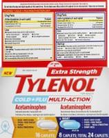 Tylenol Extra Strength Cold + Flu Daytime/Nighttime Acetaminophen Caplets - 24 ct