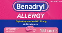 Benadryl Allergy Ultratab Tablets 25mg